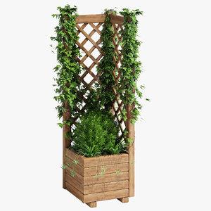 square planter lattice 2 3D model