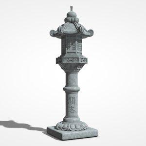 stone lantern toro 3D