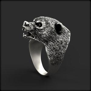 bear ring 3D