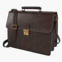 Visconti Apollo Oil Tanned Leather Briefcase