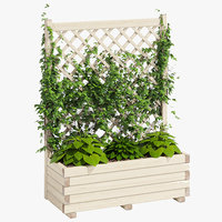 3D model planter lattice 2