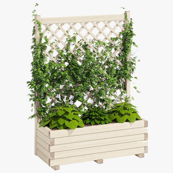 3D model planter lattice 2