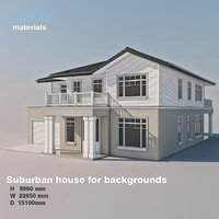 Suburban house for backgrounds