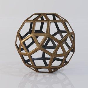 3D model geo large decorative metal