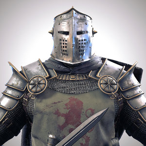 knight character rigged unity 3D model