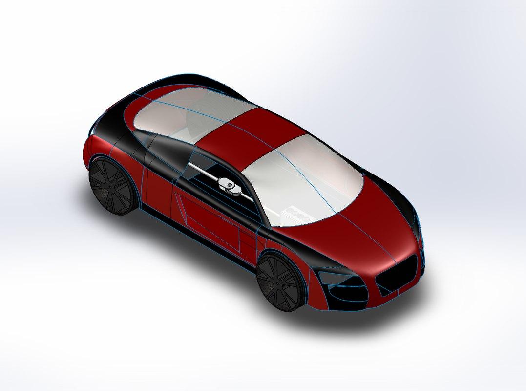3D model car mold