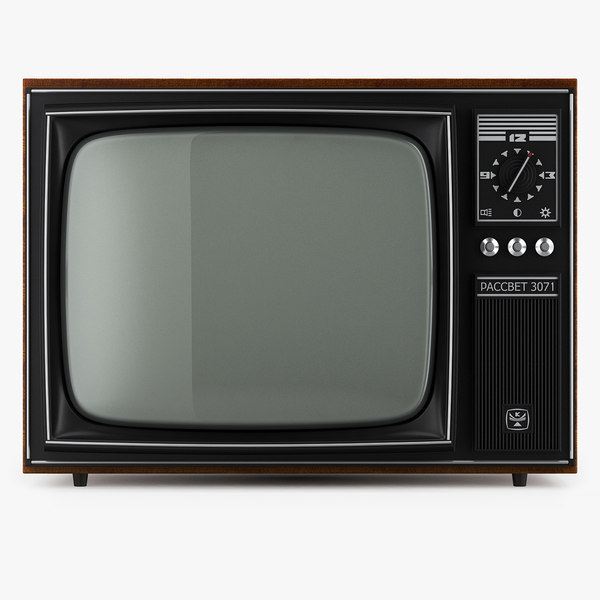 retro tv rassvet 3071 3D