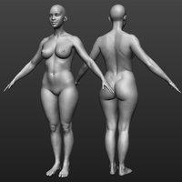 hi res female body model