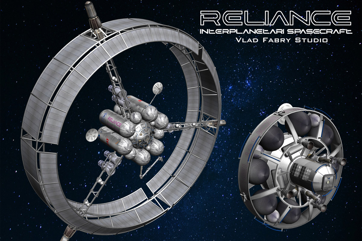 spacecraft futuristic 3D model
