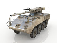 tank panzer btr stryker 3D model