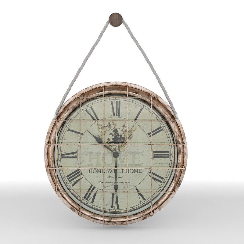 antique wall clock 3D