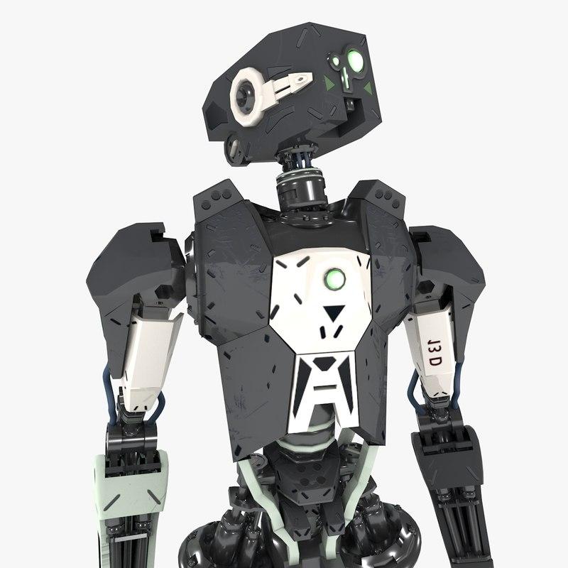 Rigged Robot