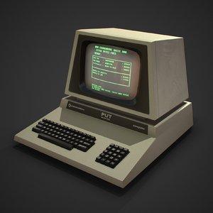 ready retro computer 3D model