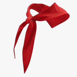 silk red pioneer tie 3D model