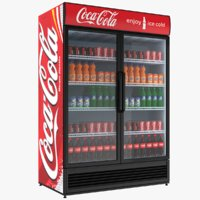 3D filled coca cola fridge