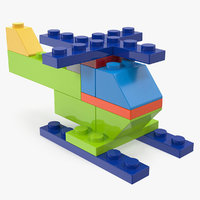 toy copter blocks generic 3D