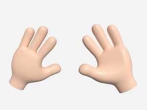 3D cartoon hand