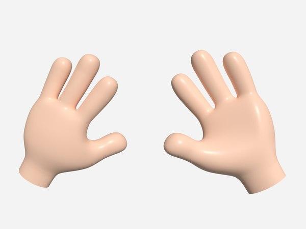 3D cartoon hand