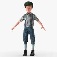 3D vintage style realistic boy