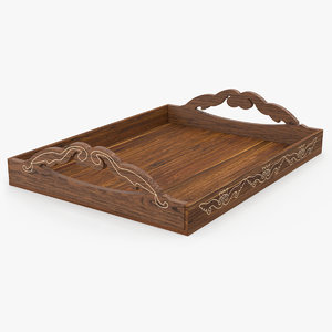 wooden tray ornament model