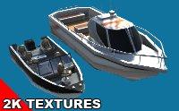 motorboat hq boat 3D model