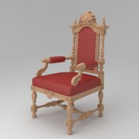 3D carved chair 05 model