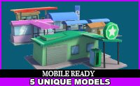Gas Stations Cartoon Pack