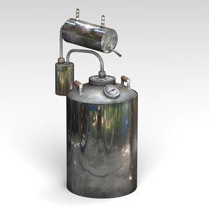 3D brewing kettle model