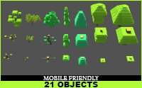 package growing trees garden 3D model