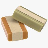 bar soap packaging 03 3D model
