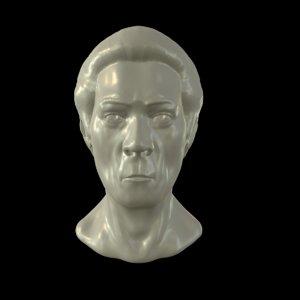 3D sculpt man s head model