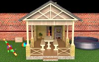 pergola house entrance 3D model