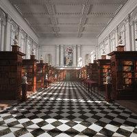 3D model retro library
