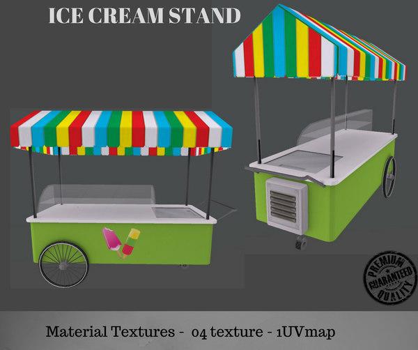 ice cream stand 3D