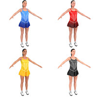 3D pack female figure skater