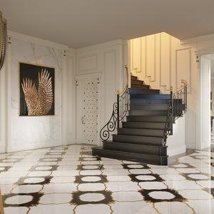 visionnaire interior scene 3D model