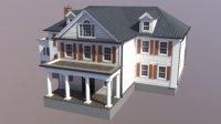 3D modern suburban house 5 model