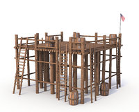 wood structure model