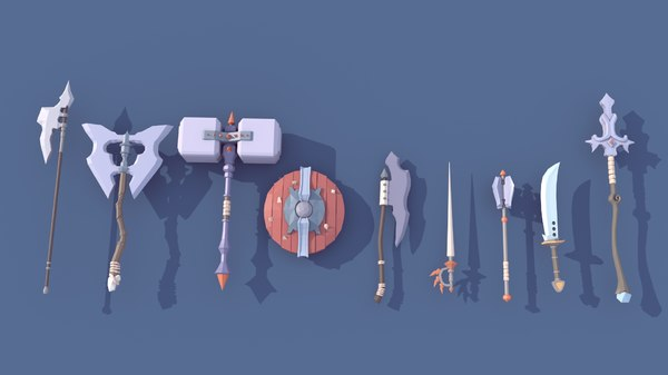 3D medieval weapon pack