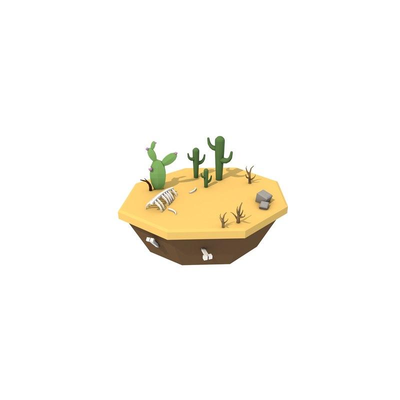 simple desert 3D model