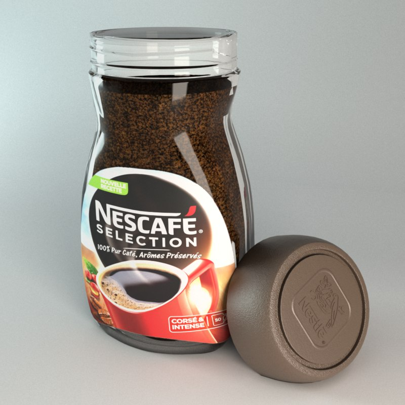 3D nescafe selection coffee container model