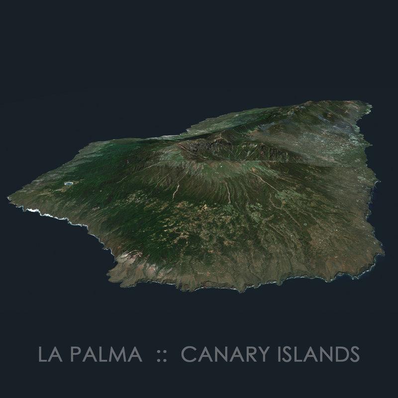 la palma island terrain 3D