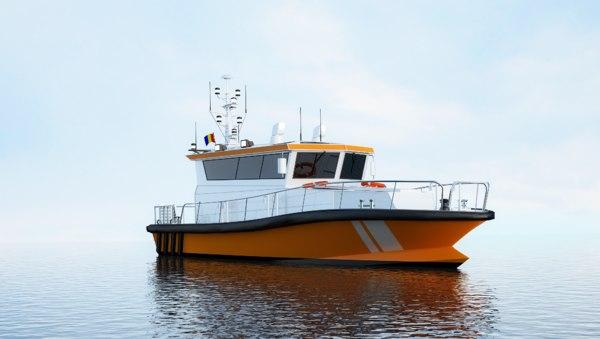 ambulance boat water 3D model
