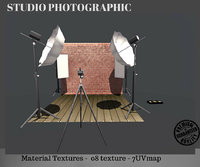 3D model studio photo photography