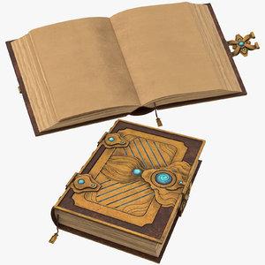 01 spell book 3D model