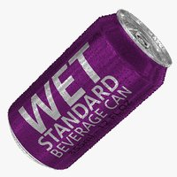 3D wet standard 355ml 12oz model