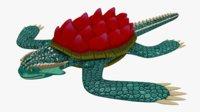 3D dragon turtle