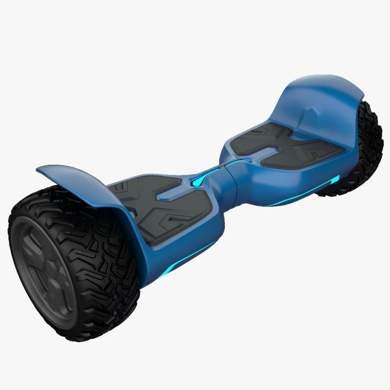 3D hoverboard hover board model