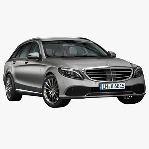 2019 mercedes-benz c-class estate 3D model