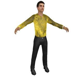 3D male figure skater